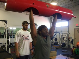 Sincere Hogan - strongman training, Philippi Vegas- Mahler Collision Course